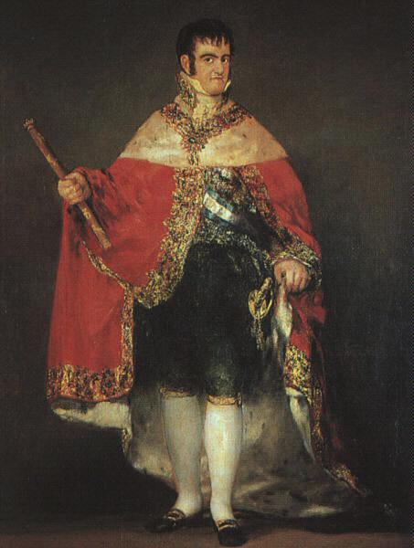 1814 Ferdinand VII in his Robes of State. Francisco Jose De Goya y Lucientes