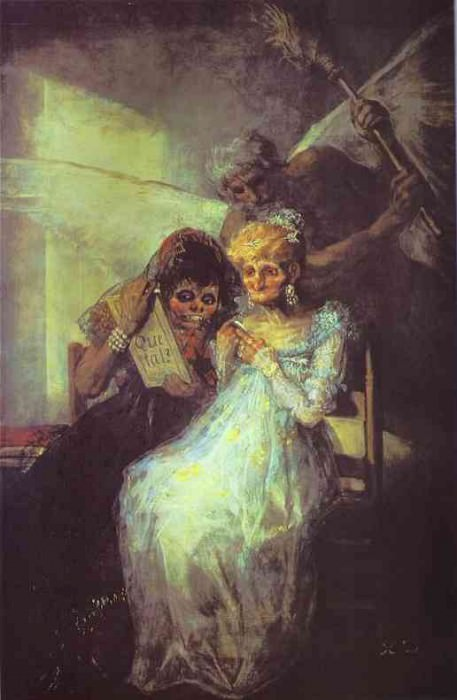Time of the Old Women. Francisco Jose De Goya y Lucientes