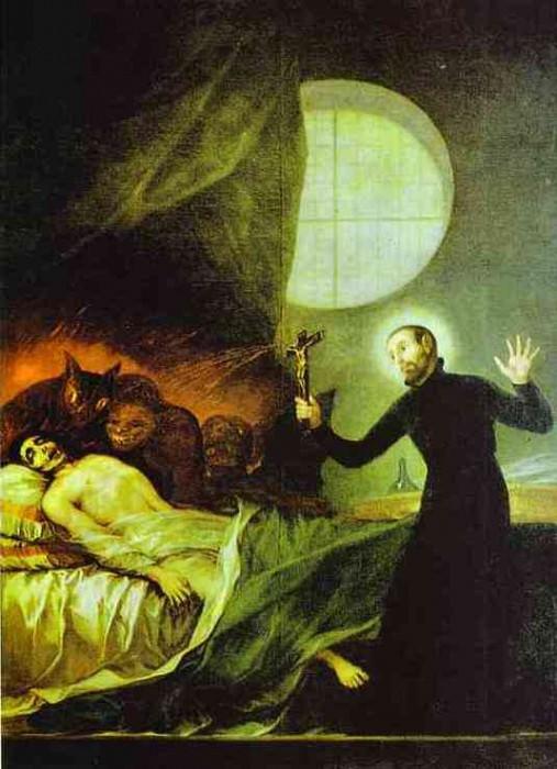 St. Francis Borgia Exorsizing. Francisco Jose De Goya y Lucientes