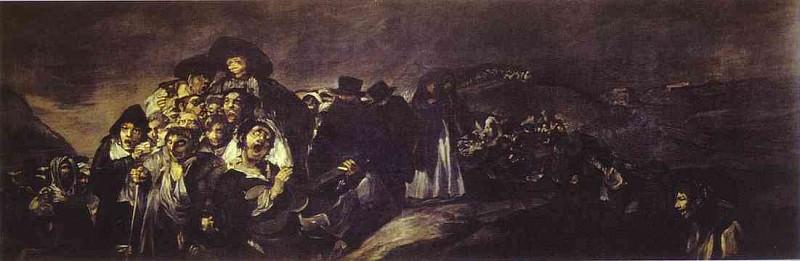 1820-23 The Pilgrimage to San Isadore. Francisco Jose De Goya y Lucientes