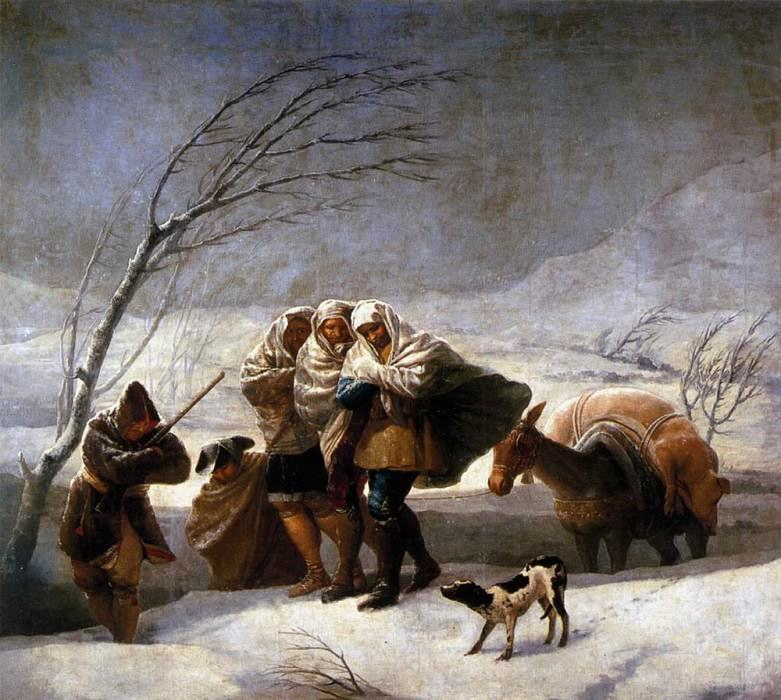 The Snowstorm. Francisco Jose De Goya y Lucientes