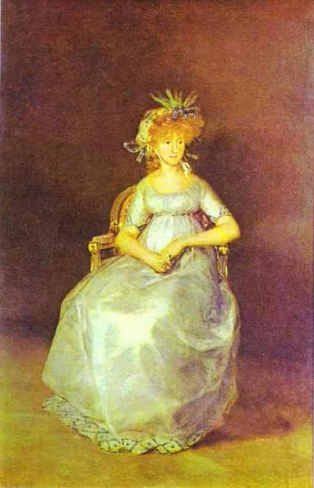 Portrait of the Countess of Chinch n. Francisco Jose De Goya y Lucientes
