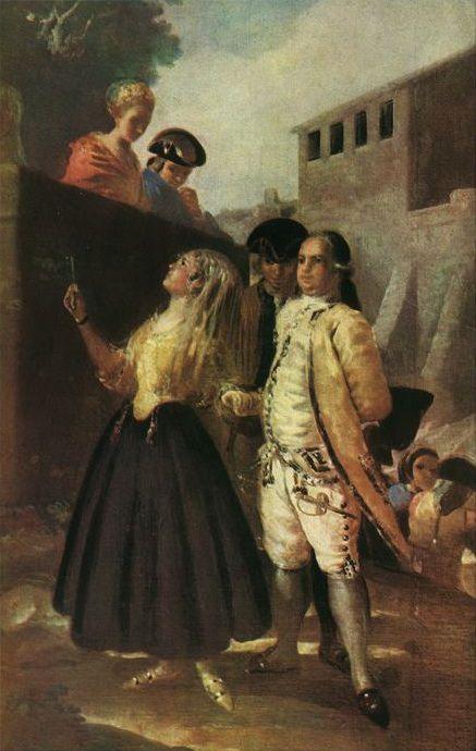 Le militaire et la Senora. Francisco Jose De Goya y Lucientes