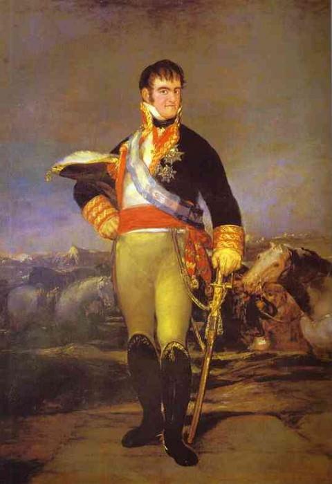 Portrait of Ferdinand VII. Francisco Jose De Goya y Lucientes