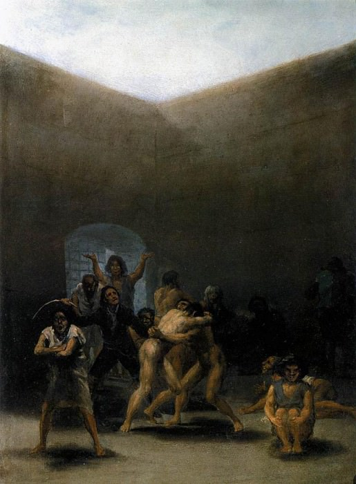 The Yard of a Madhouse. Francisco Jose De Goya y Lucientes