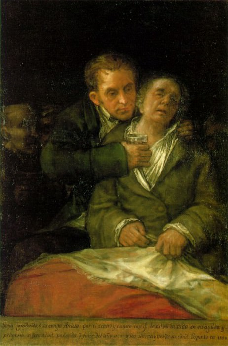 1820 Self-Portrait with Doctor Arrieta. Francisco Jose De Goya y Lucientes