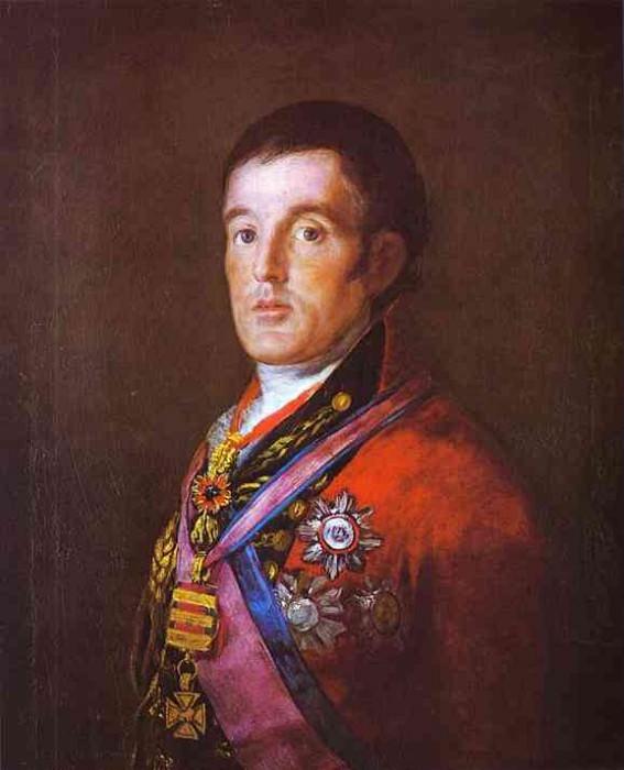 Portrait of the Duke of Wellington. Francisco Jose De Goya y Lucientes