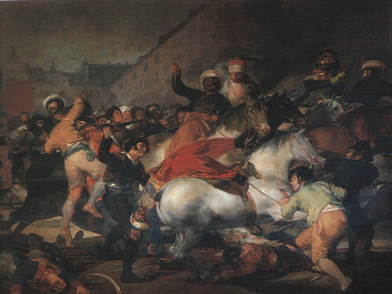 The Second of May 1808, 1814, oil on canvas, Museo del. Francisco Jose De Goya y Lucientes