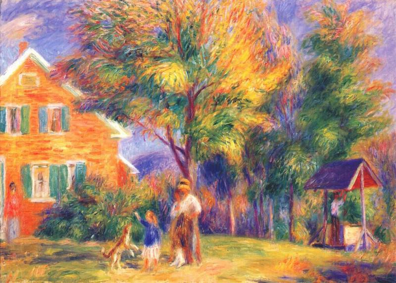 home in new hampshire c1919. William James Glackens