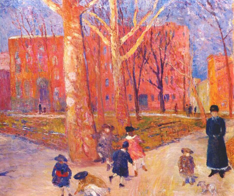 glackens 29 washington square c1912. William James Glackens