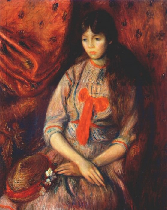 portrait of a young girl 1915. William James Glackens