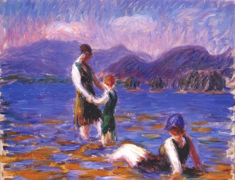 lake bathers, c1920. William James Glackens