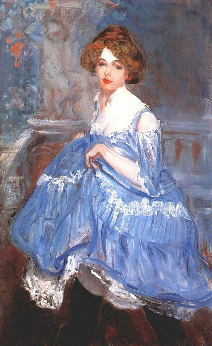 dancer in blue c1905. William James Glackens