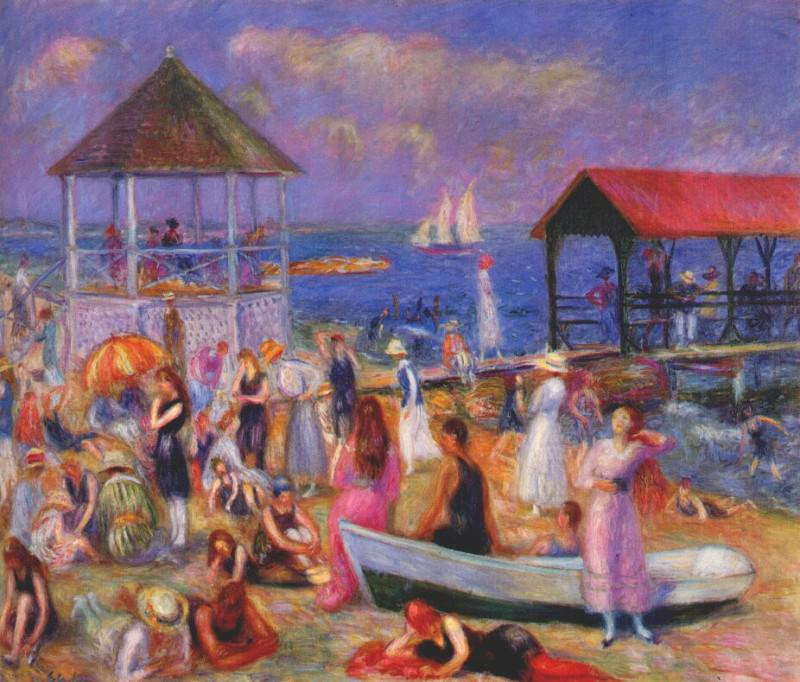 beach scene, new london 1918. William James Glackens