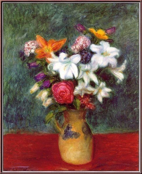 Lilies AndOtherFlowersInAVase. William James Glackens
