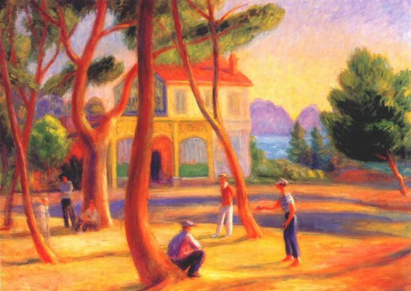 bowlers (la ciotat) 1930. William James Glackens