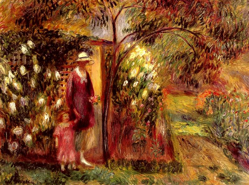 Two In A Garden. William James Glackens