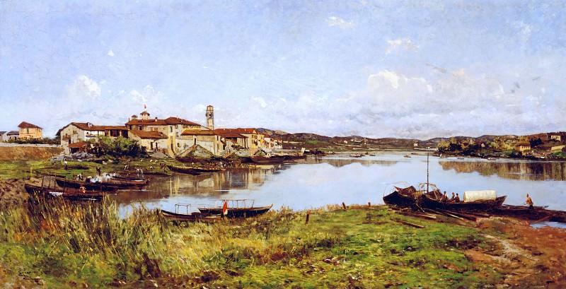 View of Sesto Calende. Lorenzo Gignous