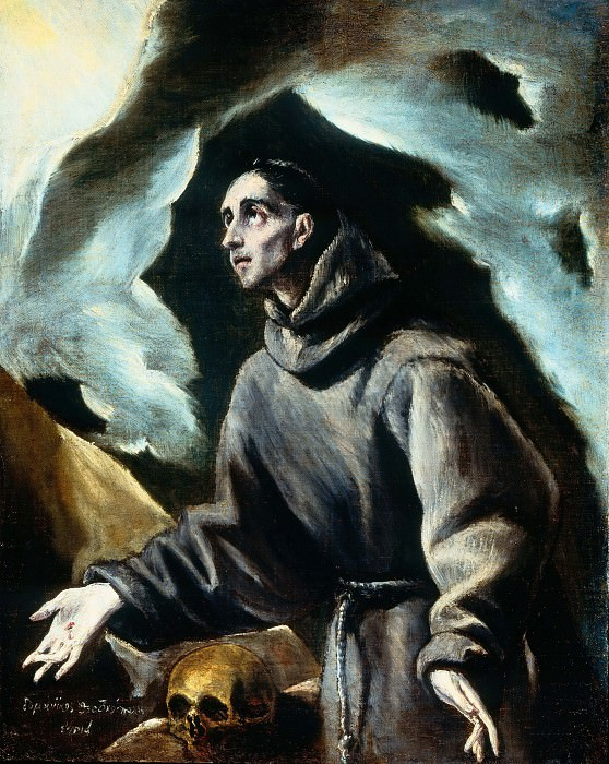 Saint Francis Receiving the Stigmata. El Greco