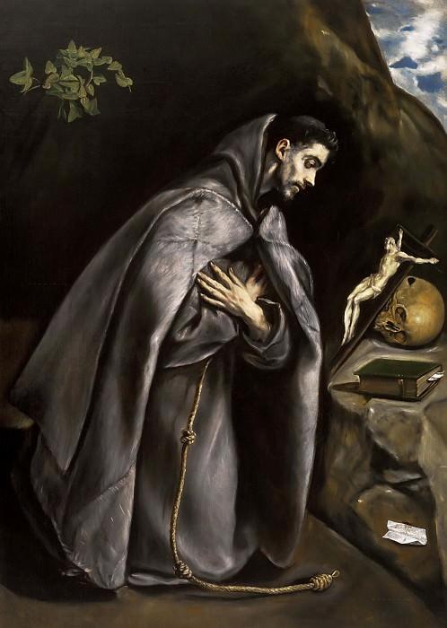 Молящийся святой Франциск. Эль Греко