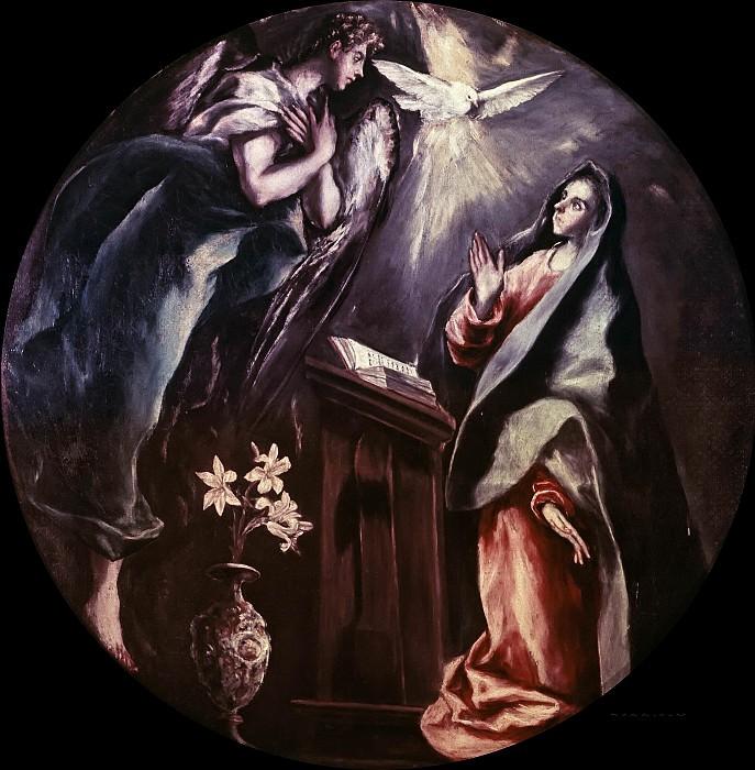 Annunciation. El Greco
