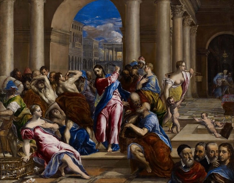 Изгнание торгующих из храма. Эль Греко