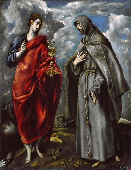 Saints John the Evangelist and Francis. El Greco