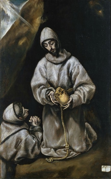 Saint Francis in Meditation. El Greco (Workshop of)