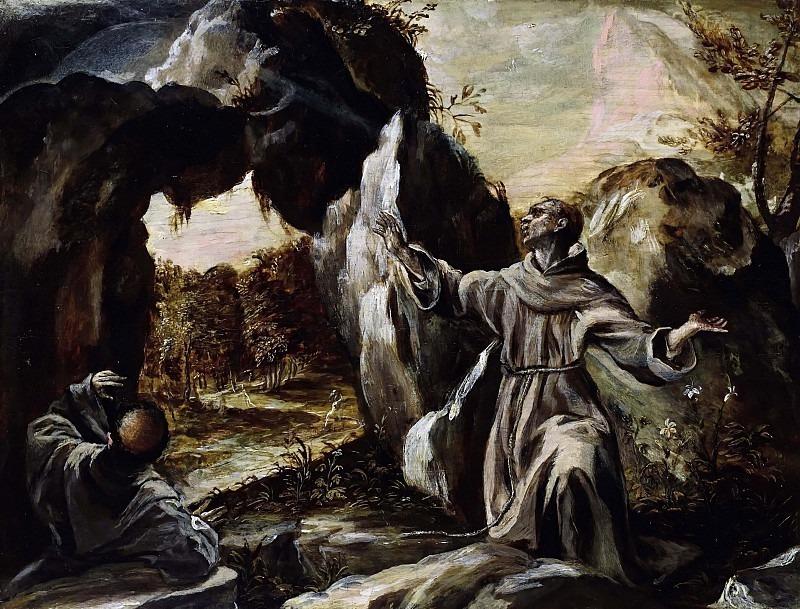 Святой Франциск получает стигматы. Эль Греко