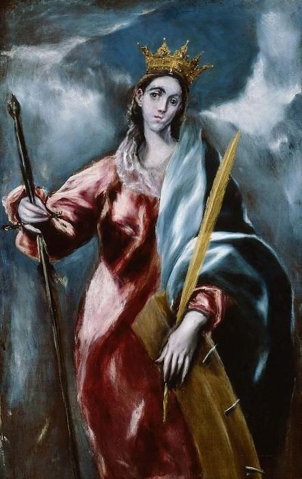 Saint Catherine. El Greco