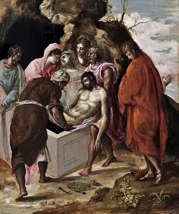 The Entombment of Christ. El Greco