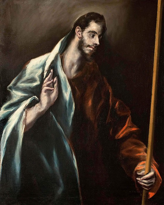 Apostle St Thomas. El Greco