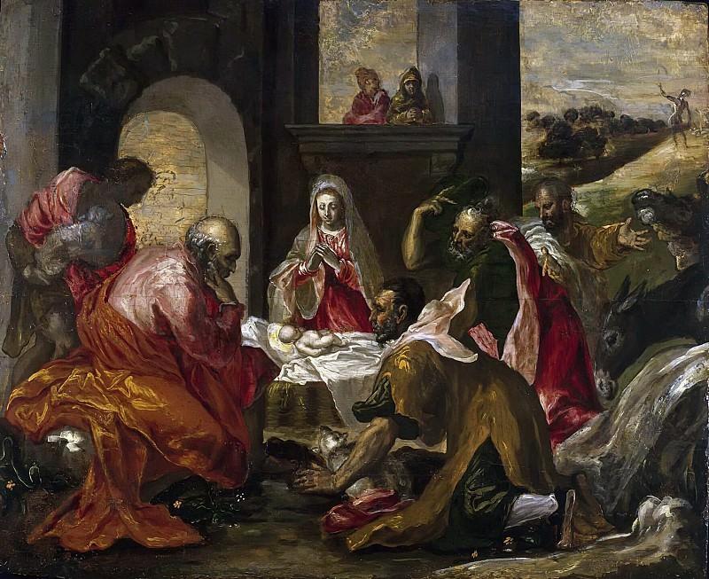 Adoration of the Shepherds. El Greco