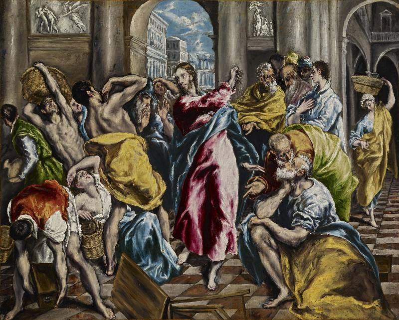 Purification of the Temple. El Greco