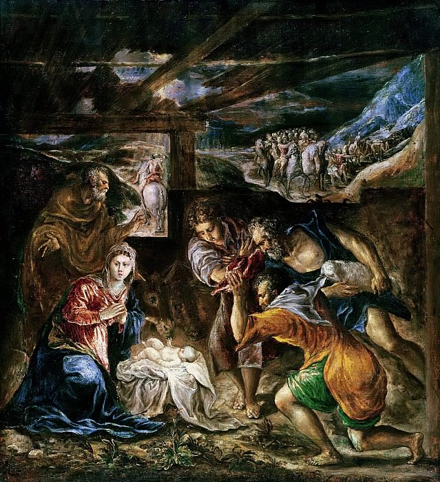 Adoration of the Shepherds. El Greco