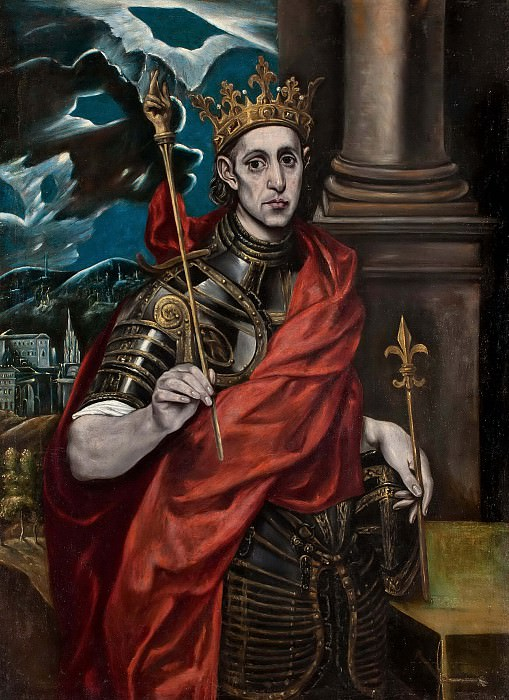 St Louis, King of France. El Greco
