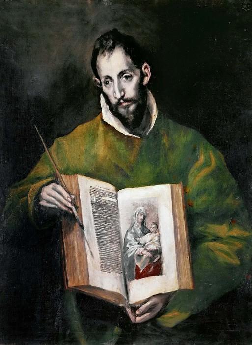 Saint Luke Evangelist. El Greco