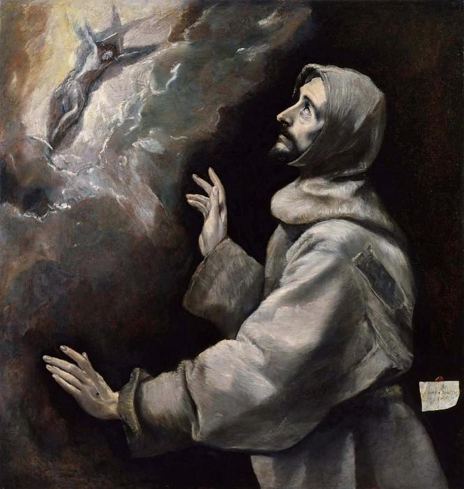 Saint Francis Receiving the Stigmata. El Greco