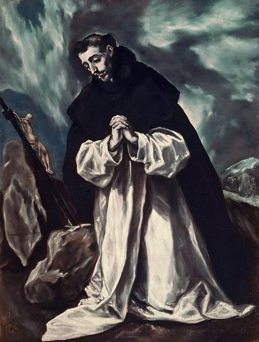 St. Dominic praying. El Greco