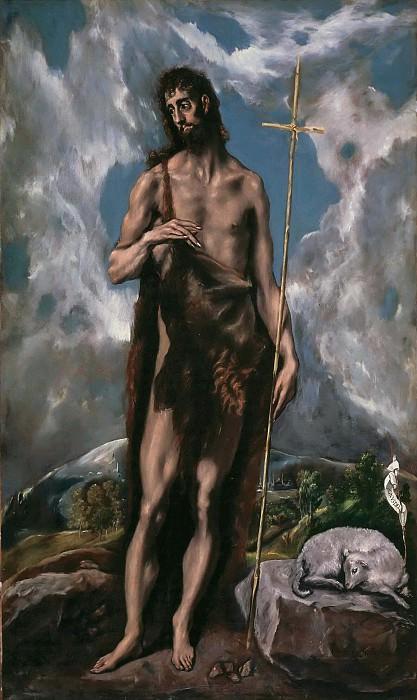 St. John the Baptist. El Greco