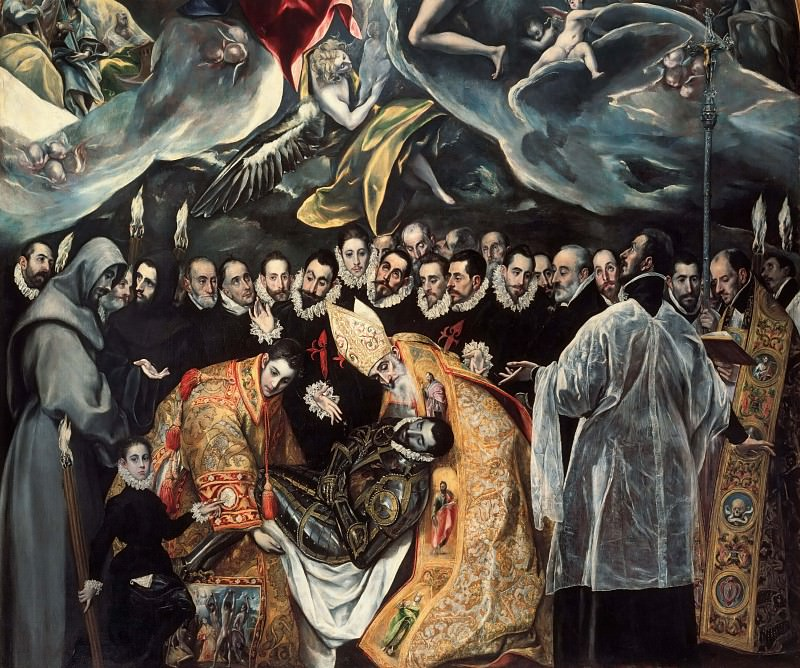 Burial of the Count of Orgaz, detail. El Greco
