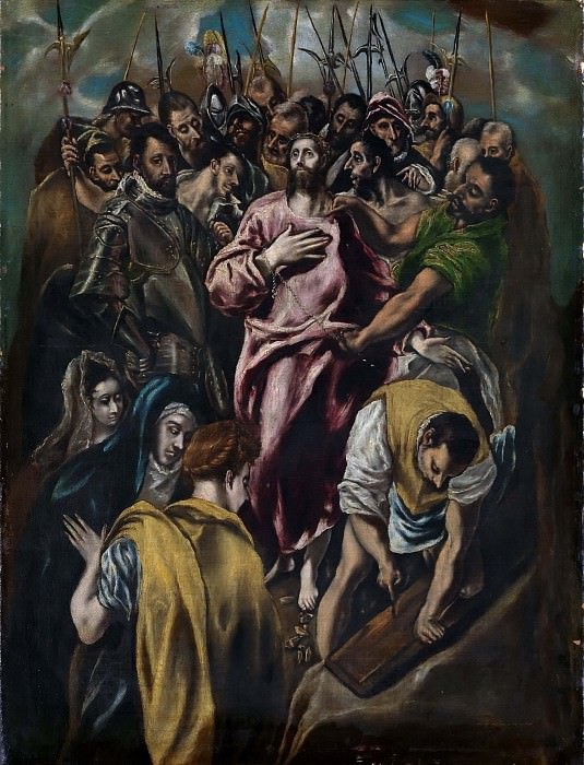 Jesus Christ stripped of his Garments. El Greco (attr)