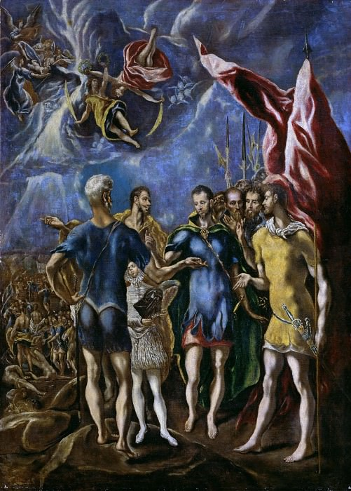 The martyrdom of St. Maurice. El Greco