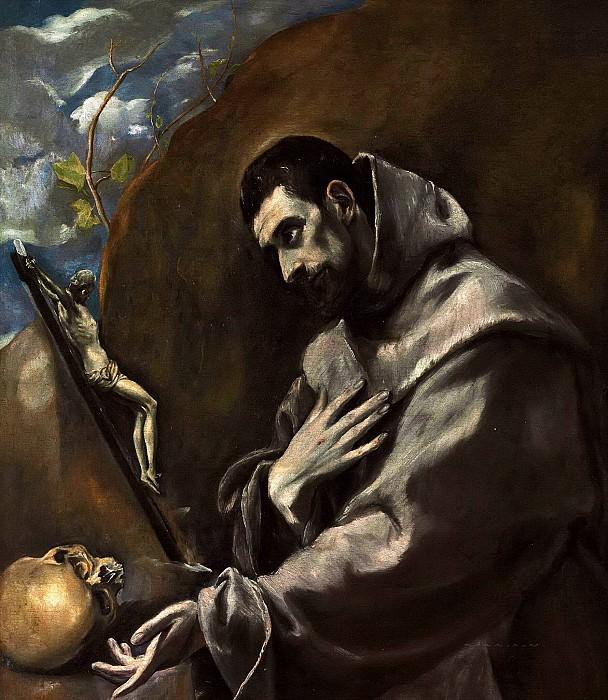 Святой Франциск в размышлении. Эль Греко