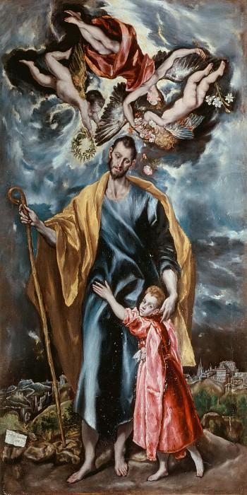 Saint Joseph and the infant Jesus. El Greco