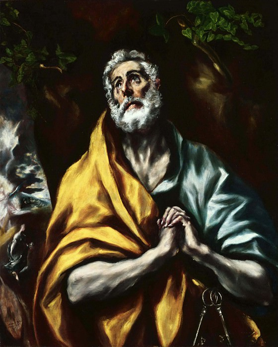The Repentant St. Peter. El Greco
