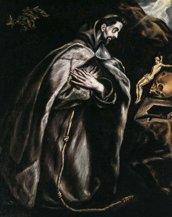 St. Francis praying. El Greco