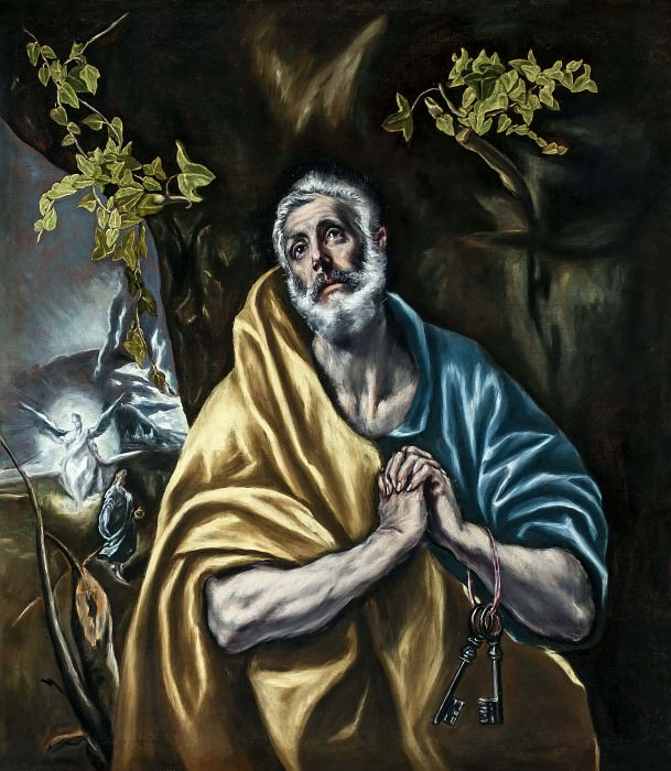The Penitent Saint Peter. El Greco