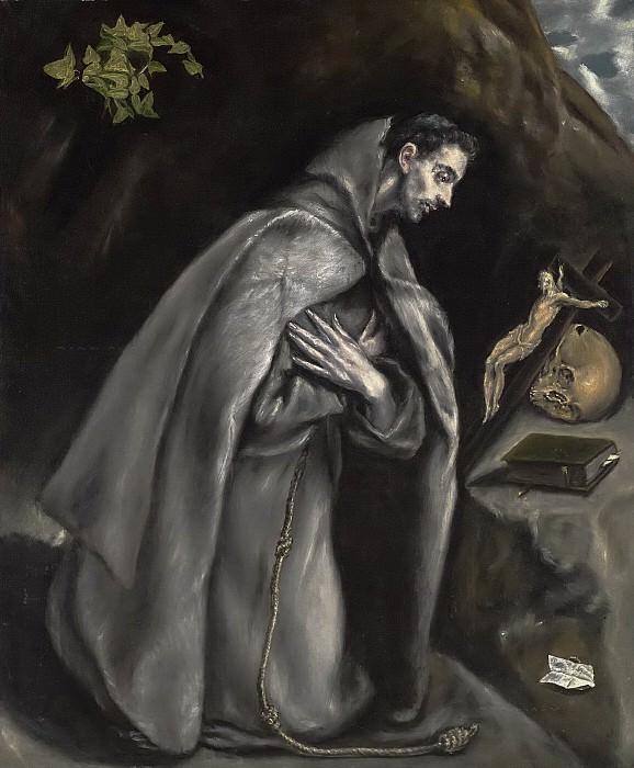 Saint Francis in Meditation. El Greco
