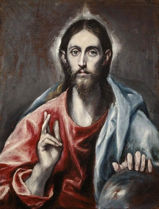 Christ Blessing. El Greco